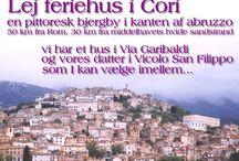 Feriehus nær Rom i Cori, Italien / Lej et af vores herlige feriehuse i Cori, en smuk middelalder bjergby ½ time syd for Rom eller til en af Italiens bedste badestrande - Se mere på http://www.cori.dk