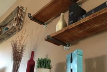 kitchen wall shelving