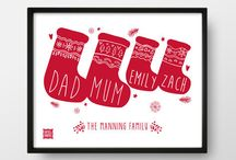 Christmas Prints / Christmas decorations with a difference! Any of our collection of personalised  and non-personalised Christmas prints will enhance the festive feel in your home for years to come.