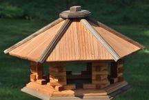 Wooden Bird Feeder / Wooden Garden Bird Feeder  Hauses,karmniki dla patków,dekoracje do ogrodu ,wyroby z drewna ,ogród,ptaki ,produkty z drewna ,wood decor,vogelhaus
