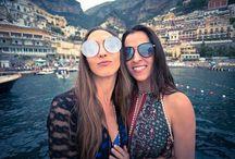 Steven Cox Instagram Photos @mia_tidwell and @ngomez303 rocking and rolling into #Positano.  Thanks for the ride @bluestarpositano  #travel #onaboat #weddingmonth #amalficoast
