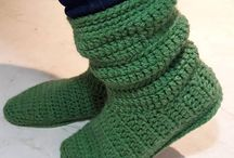 slippers boots crochet