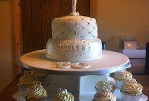 50th cake & cupcakes