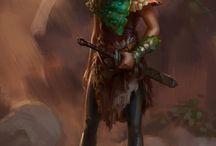 luźne portrety fantasy