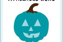 The Teal Pumpkin Project / This Halloween, FARE is encouraging food allergy families to start a new tradition: painting a pumpkin teal and placing it on your porch as a sign to other families managing food allergies that you have non-food treats available at your home. Your teal pumpkin is also a way to raise awareness in your neighborhood about food allergies! Learn more at http://blog.foodallergy.org/2014/10/06/the-teal-pumpkin-project-for-an-allergy-friendly-halloween/ / by Food Allergy Research & Education