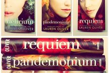 Delirium, Pandemonium, Requiem / Just read all three books 'Delirium', 'pandemonium' and 'Requiem' a a few days! Love the writing style of Lauren Oliver and love all of her characters! Can't help myself from thinking about every idea she had Team Julian or Team alex???? Dont know!!! INSPIRAAAAAAAAATION FOR ALL THE FANS.
