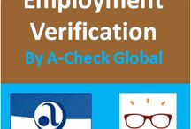 A-Check Global - Employment Verification (HR) / Information regarding the Name of Employer, Dates Employed, Last Salary, Job Title(s), Reason for Leaving, Eligibility For Rehire, etc are obtained from the HR or Payroll Departments of Previous Employers and compared to information provided by the Applicant #HR #A-CheckGlobal #BackgroundVerification