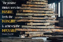 Quotes / Inspirational quotes and inspirational reclaimed wood.