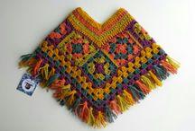 ponchos bebé a crochet