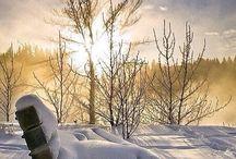 Paysages de neige...et de glace