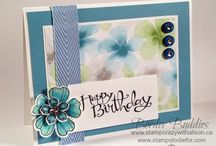 stampin' up cards / Inspirational cards that includes flowers, butterflies and background techniques