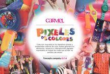 Pixeles de color / Colección inspirada en los llamativos pixeles y exuberantes matices de color, fondos geométricos abstractos, mosaicos e intervenciones digitales expresados en toques de moda que activan los sentidos del verano