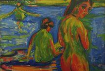 Kirchner / Storia dell'Arte Pittura  19°-20° sec. Ludwig Kirchner  1880-1938