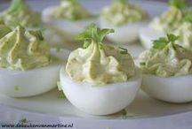 eieren gevult met heksenkaas