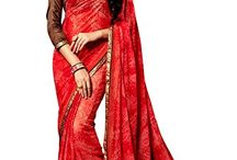 Latest Saree Online Shopping / Make a new ethnic statement by donning this elegant saree. In well rich material and pure ethnic essence this saree will give a boost to your boredom saree collection. Includes matching blouse fabric.