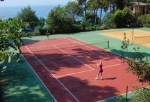 Sport facilities / For sports and relaxing there is a rich choice: 2 tennis courts, football and volley-ball fields, bowling, minigolf, table tennis, training in 9 steps (all these activities can be performed all year through).