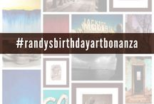 Randy's Birthday Art Bonanza / One piece on sale every day through the month of October 2014, in celebration of Randy's birthday month! #randysbirthdayartbonanza