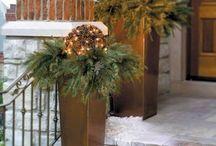 Weihnachtsdekoration Hauseingang