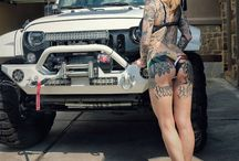 sexy woman and car