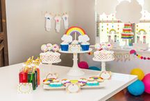 Rainbow Party Ideas / Rainbow birthday party, Rainbow Baby Shower, Rainbow Onesie Station / by Lillian Hope Designs