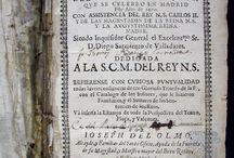 """Relacion historica del auto general de fe, qve se celebro en Madrid este año de 1680 / Descripció de tota la cerimònia d'un dels actes de fe més cèlebres, degut al quadre de Francisco Rizzi i a la """"Relación"""" descrita per José del Olmo. José del Olmo era """"familiar"""" del Sant Ofici i va ser un dels organitzadors de la cerimònia. A més, com arquitecte va dissenyar l'estrada reial. L'acte es va celebrar a Madrid presidit pel rei Carles II."""