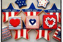 Sugar cookies/  4th of July