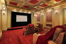 Luxury Looks for Home Theaters / these are some very luxe and high-end looks for home theaters.