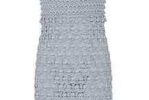 Crochet empire dress