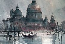 Venice in Art / Paintings of Venice and other famous landmarks