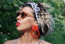 roses jewellery / handmade circle earrings