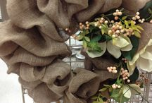 """In love with Wreaths / Wreaths add a special something to a house that says """"You are welcomed here."""""""