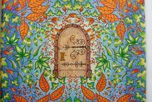 Johanna Basford (moje malowanie) / Tajemny ogród i Zaczarowany las