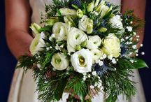 Zöldfehér esküvő