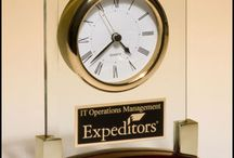 Executive Clock Awards / Perfect for your holiday company party, or for your boss, these high quality clock awards are very impressive.
