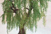 alberi con perline