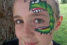 cute animation face paints