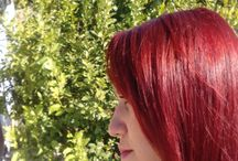 love red hair / bright red purple cheery hair