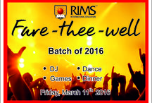 Fare Thee Well / Farewell to our wonderful students of A2. A night filled with lots of dance, fun and wonderful memories to cherish. www.rims.ac.in #farewell #wonderful #students #a2 #night #dance #fun #memories #RIMSFarewell #rimsfarewellbatch2016 #RIMSInternationalSchool #InternationalSchool #chinagaterestaurant