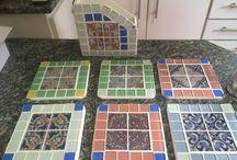 Mosaico e pastilhas / Artesanato com pastilhas de vidro
