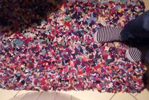 dywaniki ze szmatek wykonuje M.Cybula1 / dywaniki kolorowe