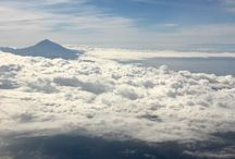 Clouds / View from Tenerife to London flight
