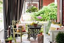 Veranda's, porches & balconies / Ideas to turn porch and balcony into an oasis of calm/Ideetjes voor mijn balkon en voor de veranda die ik ooit hoop te krijgen