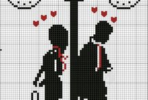 Cross stitch - lovers