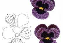 Цветы Крючком Схемы