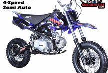 SSR 110 SEMI Mini Dirt Bike / SEMI AUTOMATIC for Clutchless shifting,  110cc, 4-Speed Semi Automatic Transmission, Dual Disc Brakes