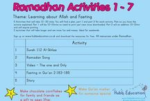 Ramadhan Activities / All the activities are available from Hubb education website for free. Go to the website www.hubbeducation.co.uk and just sign up.