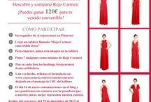 Rojo Carmesí convertible dress