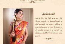 Tips to accessorize your outfit / Add this board to your collection to get handy tips of how you can accessorize your favourite sarees!