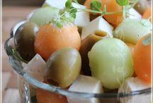 Antipasti feta-frutti