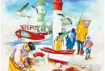 Imagens - Praia - Mar / Pintura, ilustração e arte decorativa